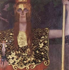"""Gustaw Klimt """"Pallas Athena"""" z włócznią i jabłkiem"""