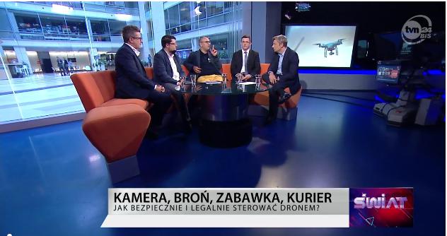 PTSP na żywo – TVN24 BiŚ – Czy drony zagrożą naszemu bezpieczeństwu?