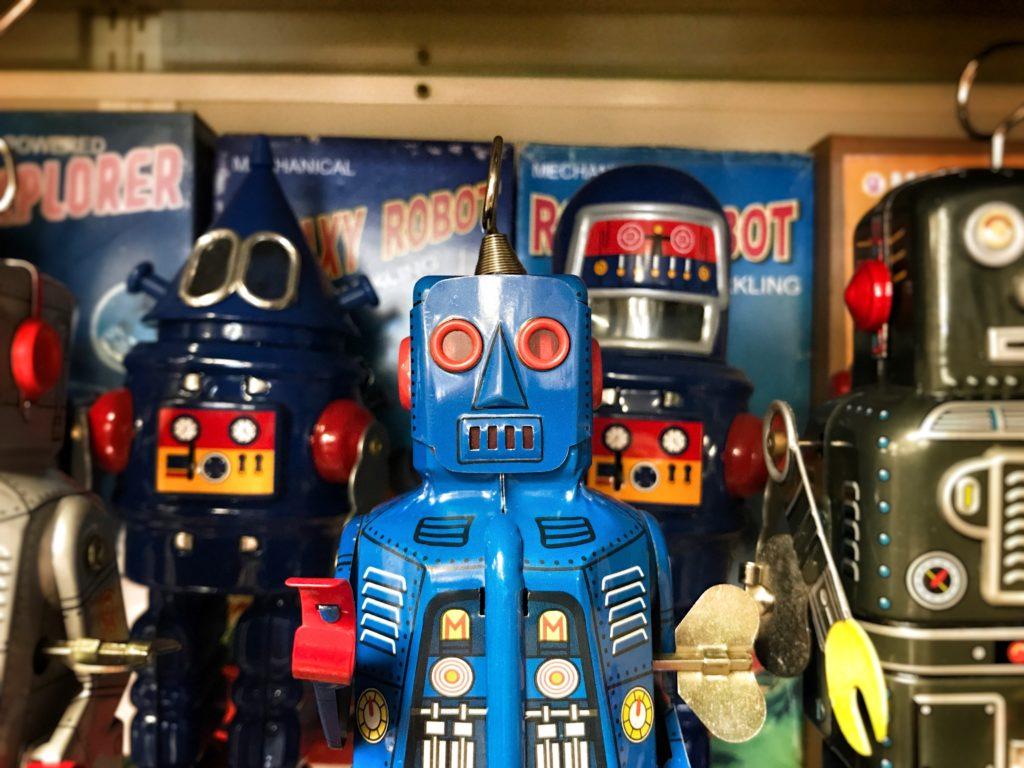 robotyka retro raczej nie przyciągnie odwiedzających